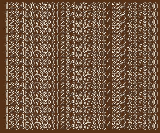 Cyfry samoprzylepne 1 cm brązowy z połyskiem
