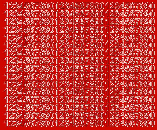 Cyfry samoprzylepne 1 cm czerwone z połyskiem
