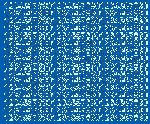 Cyfry samoprzylepne 1 cm niebieski z połyskiem