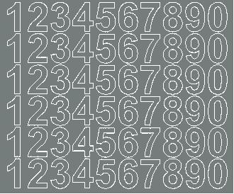 Cyfry samoprzylepne 3 cm szary matowy