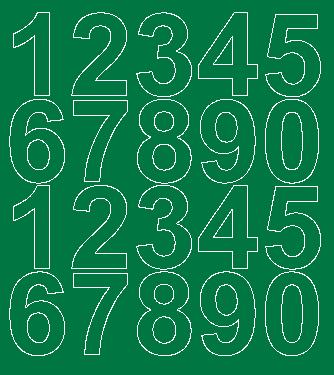 Cyfry samoprzylepne 5 cm zielone matowy