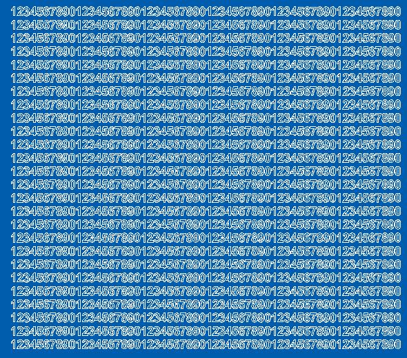 Cyfry samoprzylepne 5 milimetrów niebieski matowy