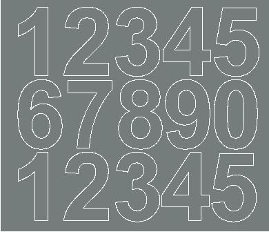 Cyfry samoprzylepne 6 cm szary z połyskiem