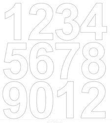 Cyfry samoprzylepne 7 cm biały matowy