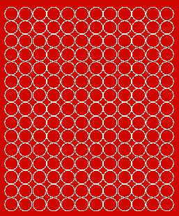 Koła grochy samoprzylepne 1.5 cm czerwone matowy 180 szt