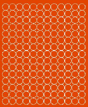 Koła grochy samoprzylepne 1.5 cm pomarańczowy z połyskiem 180 szt