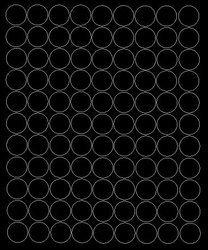 Koła grochy samoprzylepne 2 cm czarne z połyskiem 99 szt