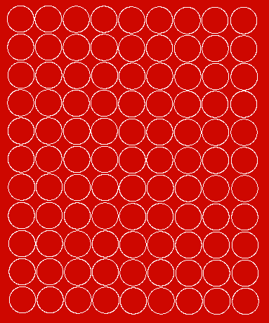 Koła grochy samoprzylepne 2 cm czerwone z połyskiem 99 szt
