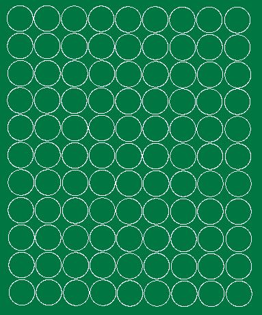 Koła grochy samoprzylepne 2 cm  zielone z połyskiem 99 szt