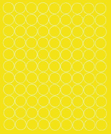 Koła grochy samoprzylepne 4 cm żółty z połyskiem 99 szt