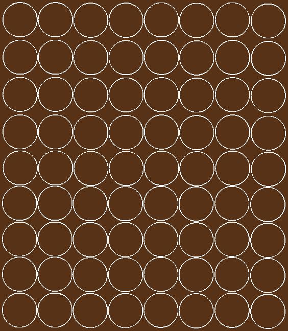 Koła grochy samoprzylepne 5 cm brązowy z połyskiem 72 szt
