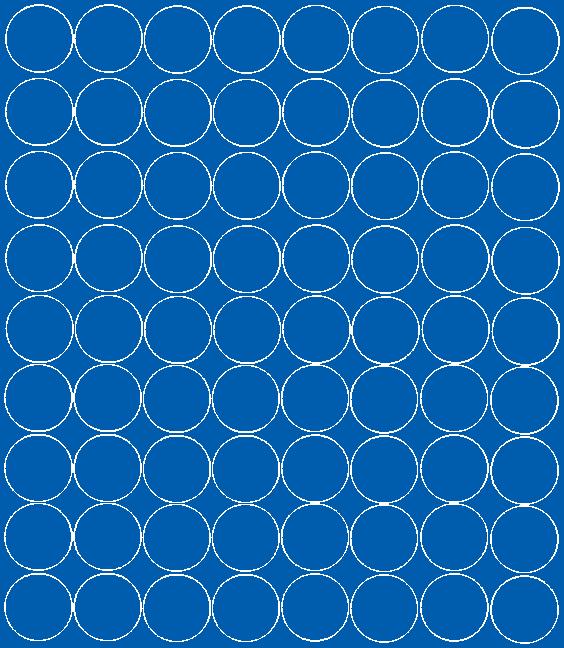 Koła grochy samoprzylepne 5 cm niebieski z połyskiem 72 szt