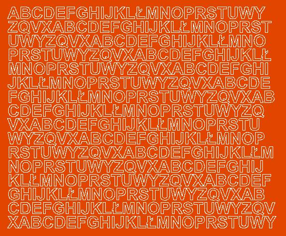 Litery samoprzylepne 1 cm pomarańczowy z połyskiem