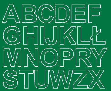 Litery samoprzylepne 4 cm zielone z połyskiem