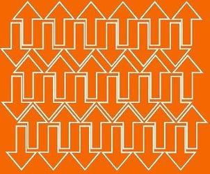 Naklejka strzałki strzałka 5x3cm 72 szt pomarańczowy z połyskiem
