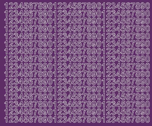 Cyfry samoprzylepne 1 cm fioletowy z połyskiem