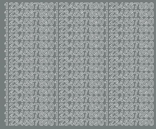 Cyfry samoprzylepne 1 cm szary matowy