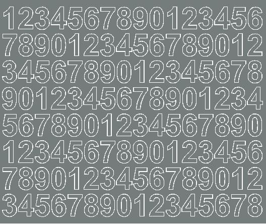 Cyfry samoprzylepne 2 cm szary matowy