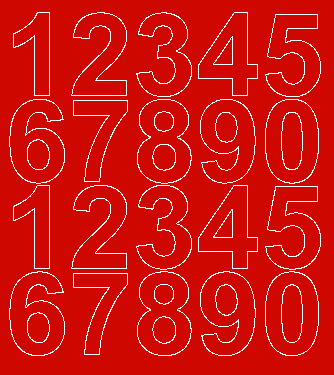 Cyfry samoprzylepne 5 cm czerwone matowy