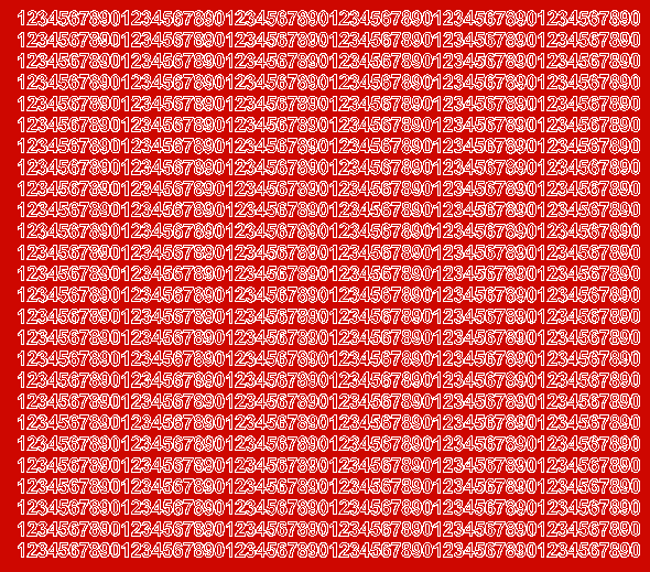 Cyfry samoprzylepne 5 milimetrów czerwone z połyskiem