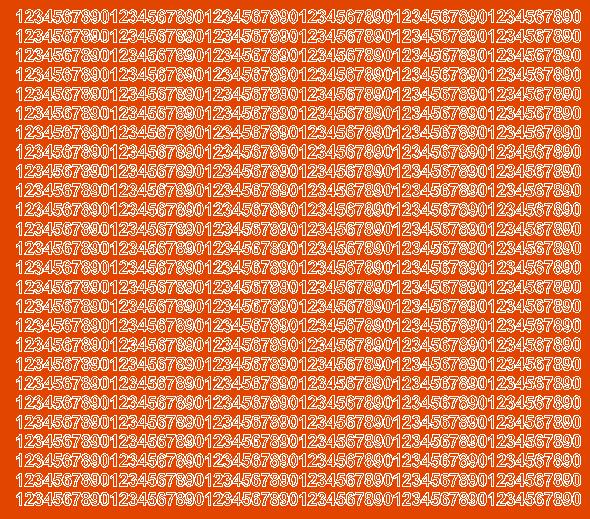Cyfry samoprzylepne 5 milimetrów pomarańczowy z połyskiem
