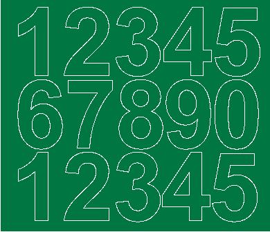 Cyfry samoprzylepne 6 cm zielone matowy