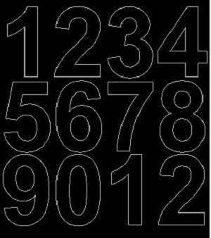 Cyfry samoprzylepne 7 cm czarny matowy