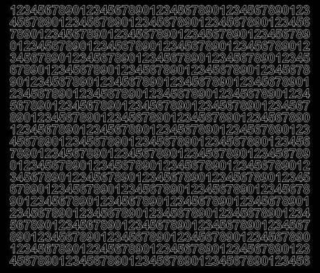 Cyfry samoprzylepne 7 milimetrów czarny matowy