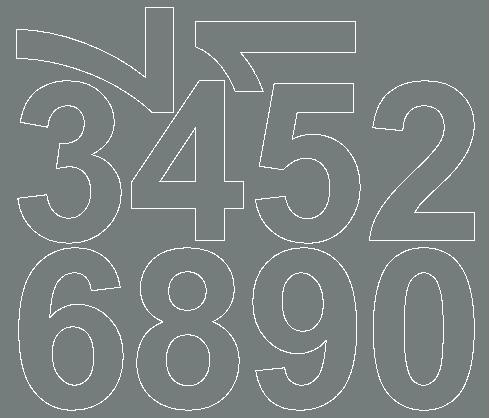 Cyfry samoprzylepne 8 cm szary matowy