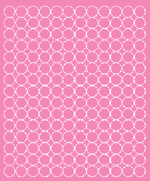 Koła grochy samoprzylepne 1.5 cm różowy z połyskiem 180 szt