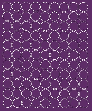 Koła grochy samoprzylepne 2 cm fioletowy z połyskiem 99 szt