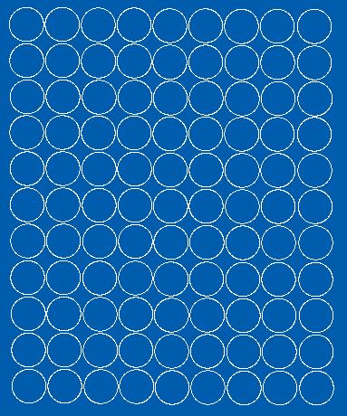 Koła grochy samoprzylepne 2 cm niebieski z połyskiem 99 szt