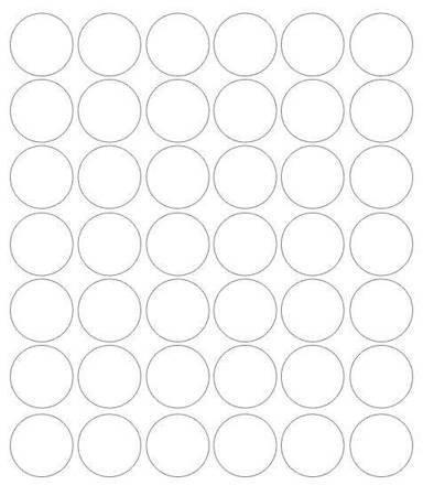 Koła grochy samoprzylepne 3 cm biały matowy 42 szt