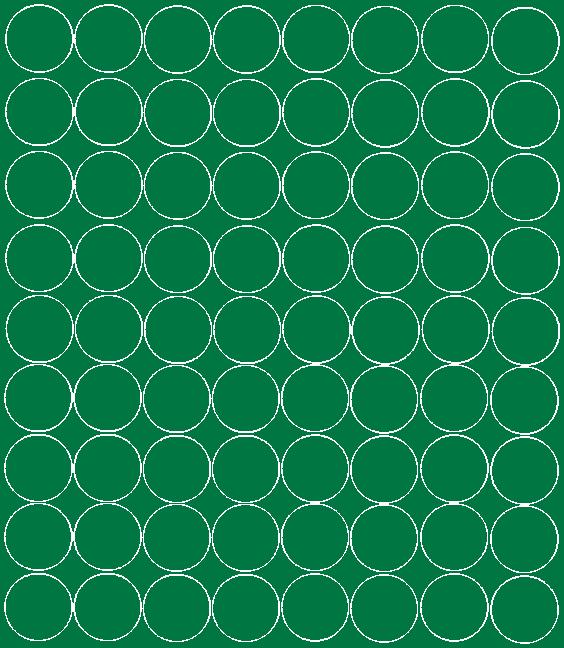 Koła grochy samoprzylepne 5 cm  zielone z połyskiem 72 szt