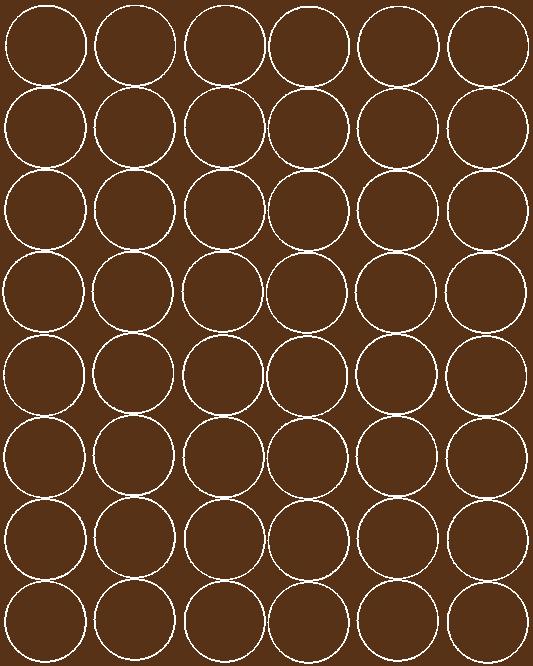 Koła grochy samoprzylepne 6 cm brązowy z połyskiem 48 szt