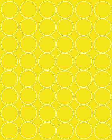 Koła grochy samoprzylepne 6 cm żółty z połyskiem 48 szt