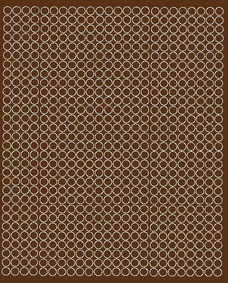 Koła grochy samoprzylepne 7 milimetrów brązowy z połyskiem 720 szt