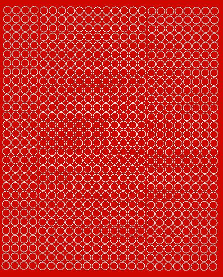 Koła grochy samoprzylepne 7 milimetrów czerwone matowy 720 szt