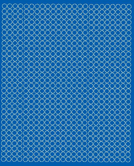 Koła grochy samoprzylepne 7 milimetrów niebieski matowy 720 szt