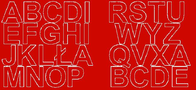 Litery samoprzylepne 5 cm czerwone matowy