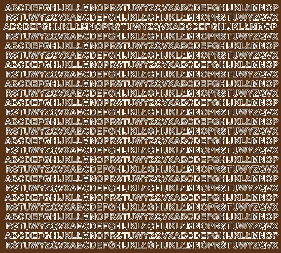 Litery samoprzylepne 5 milimetrów brązowy z połyskiem