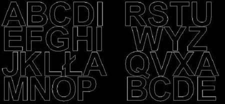 Litery samoprzylepne 6 cm czarne z połyskiem