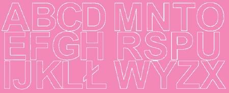 Litery samoprzylepne 6 cm różowy z połyskiem