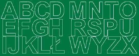 Litery samoprzylepne 6 cm zielone matowy