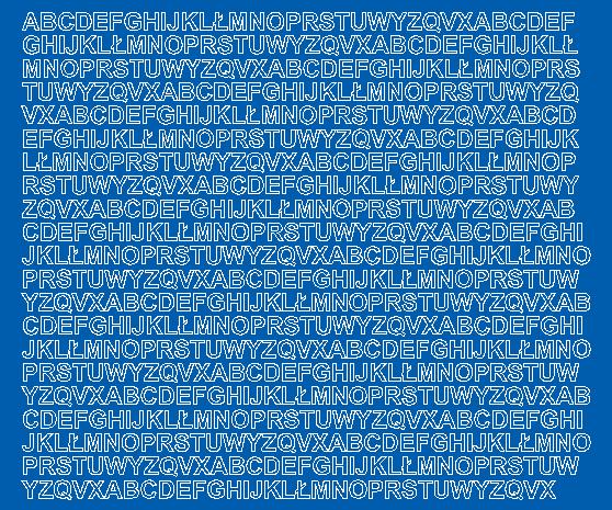 Litery samoprzylepne 7 milimetrów niebieski matowy